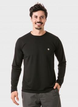 masculina t shirt longa dry preta frentec