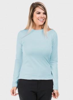 feminina t shirt thermo azul frente c