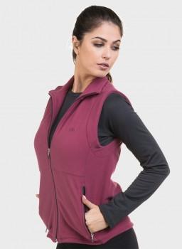 colete feminino fleece lateral bordo esquerda c