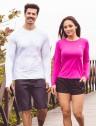 feminina t shirt longa ice pink frente prod