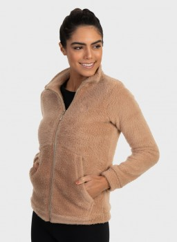 casaco teddy bear pelo felpudo feminino extreme uv frente fechada c