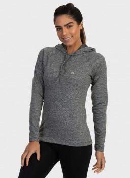 camisa uv termica para frio com capuz feminina extreme uv mescla frente c