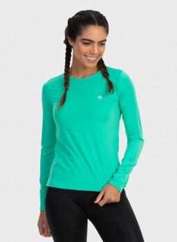 feminia t shirt longa nd verde menta lateral c n