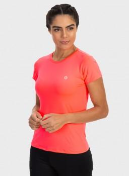 camisa uv feminina new dry com protecao solar manga curta extreme uv rosa fluor c n
